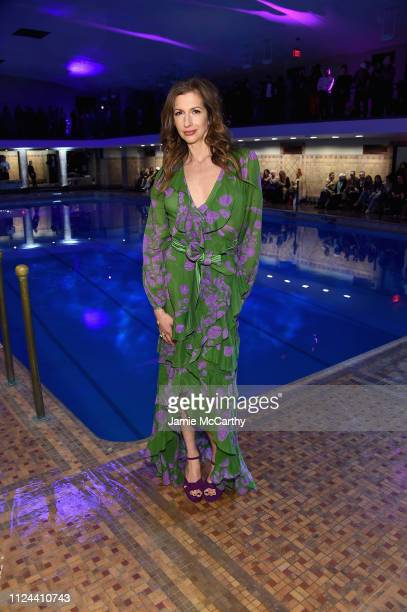 Alysia Reiner attends the Cynthia Rowley front row during New York Fashion Week The Shows on February 12 2019 in New York City
