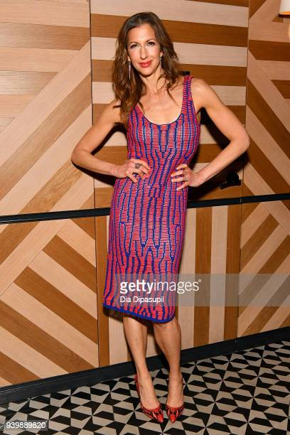 Alysia Reiner attends The Last OG New York Premiere After Party at Westlight on March 29 2018 in the Brooklyn borough of New York City New York