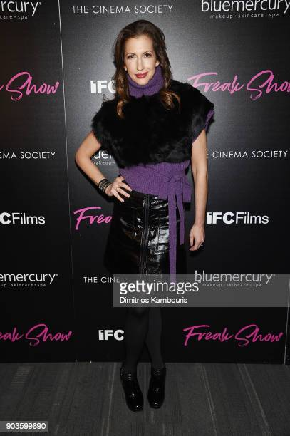 Alysia Reiner attends the premiere of IFC Films' 'Freak Show' hosted by The Cinema Society at Landmark Sunshine Cinema on January 10 2018 in New York...