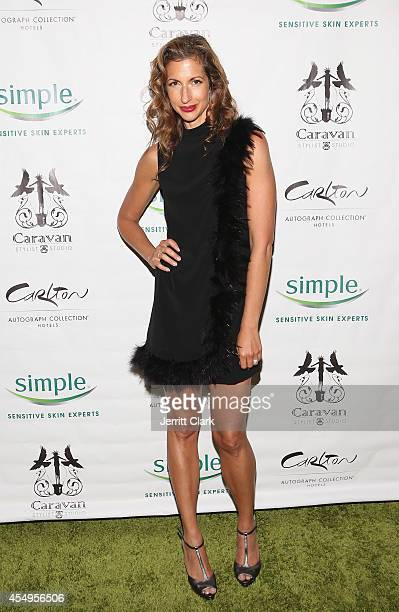 Alysia Reiner attends the Simple Skincare Caravan Stylist Studio Fashion Week Event on September 7 2014 in New York City