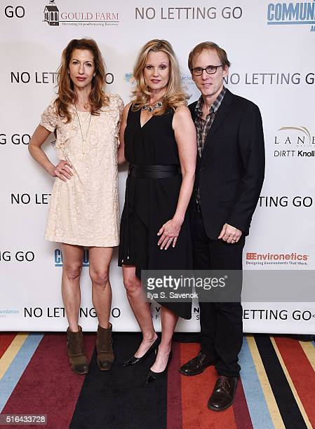 Alysia Reiner Cheryl Allison and Neal Huff and attend NO LETTING GO Movie NYC Theatrical Premiere at City Cinemas Village East on March 18 2016 in...