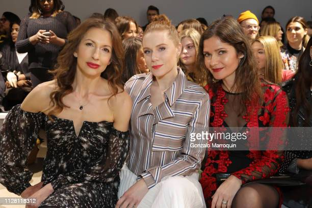 Alysia Reiner Christiane Seidel and Jill Hennessy attends Nicole Miller Fall 2019 Runway Show on February 07 2019 in New York City