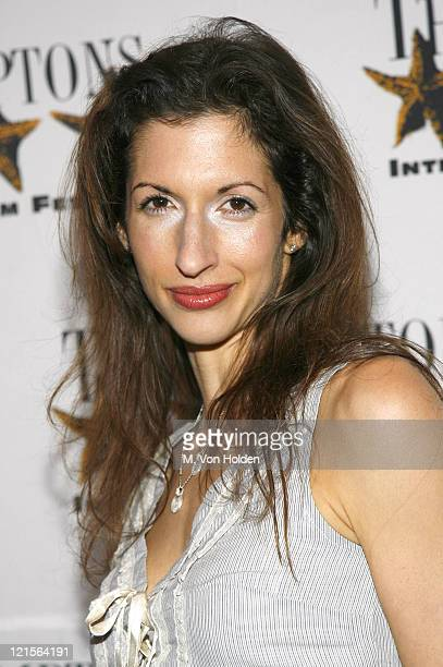 """Alysia Reiner during 14th Annual Hamptons International Film Festival - Screening of """"Shut Up and Sing"""" - Arrivals and Inside at United Artist..."""