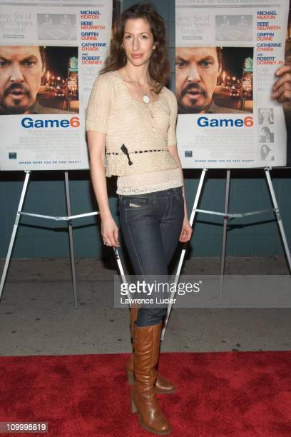 Alysia Reiner during Game 6 New York City Premiere at Clearview Chelsea West in New York City New York United States