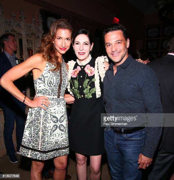 Alysia Reiner Jill Kargman David Alan Basche attend The Cinema Society Kargo Host The Season 3 Premiere Of Bravo's 'Odd Mom Out' After Party at the...