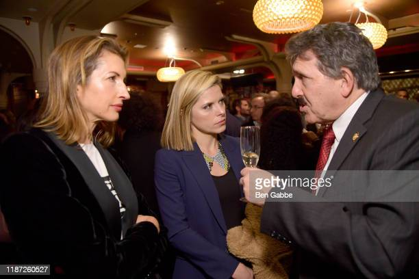 Alysia Reiner Kate Bolduan and Anthony Annucci attend the special screening of COLLEGE BEHIND BARS after party at Red Rooster on November 12 2019 in...