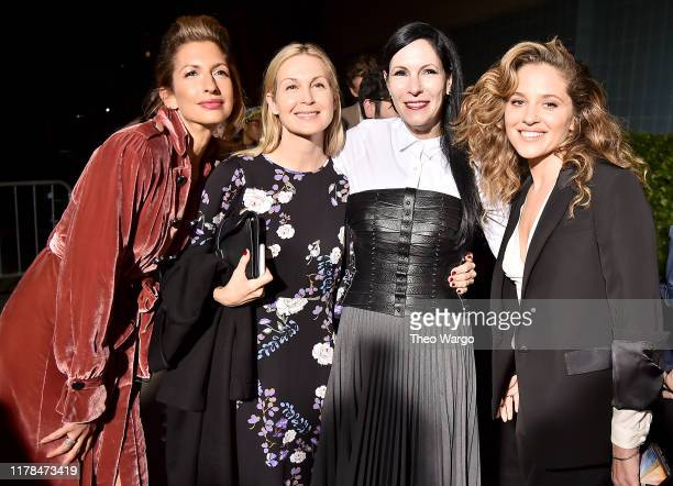 """Alysia Reiner, Kelly Rutherfor, Jill Kargman and Margarita Levieva attends """"The King"""" New York Premiere at SVA Theater on October 01, 2019 in New..."""