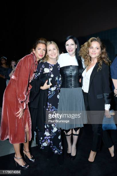 """Alysia Reiner, Kelly Rutherford, Jill Kargman and Margarita Levieva attend Netflix Hosts The Premiere Of """"The King"""" at SVA Theater on October 1, 2019..."""