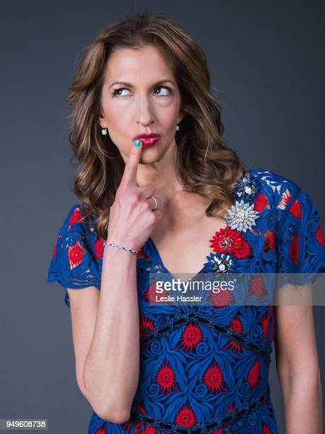 Alysia Reiner poses for a portrait during the Jury Welcome Lunch - 2018 Tribeca Film Festival at Tribeca Film Center on April 19, 2018 in New York...