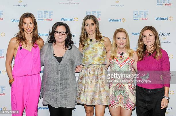 Alysia Reiner Rosie O'Donnell Sarah Megan Thomas Melissa Joan Hart Kristin Hahn attend a panel discussion In Control of Her Own Destiny at Crystal...