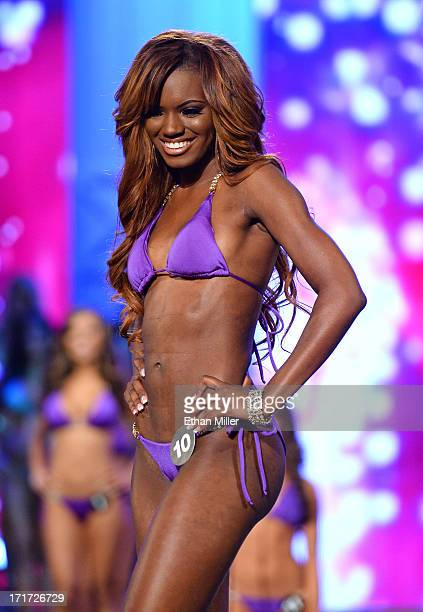 Alysia Smith of Chantilly Virginia competes during the 17th annual Hooters International Swimsuit Pageant at The Joint inside the Hard Rock Hotel...