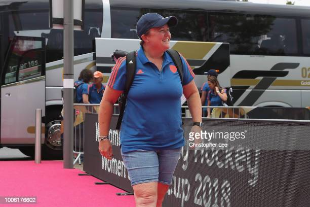 Alyson Annan of Netherlands arrives for the match during the Pool A game between China and Netherlands of the FIH Womens Hockey World Cup at Lee...