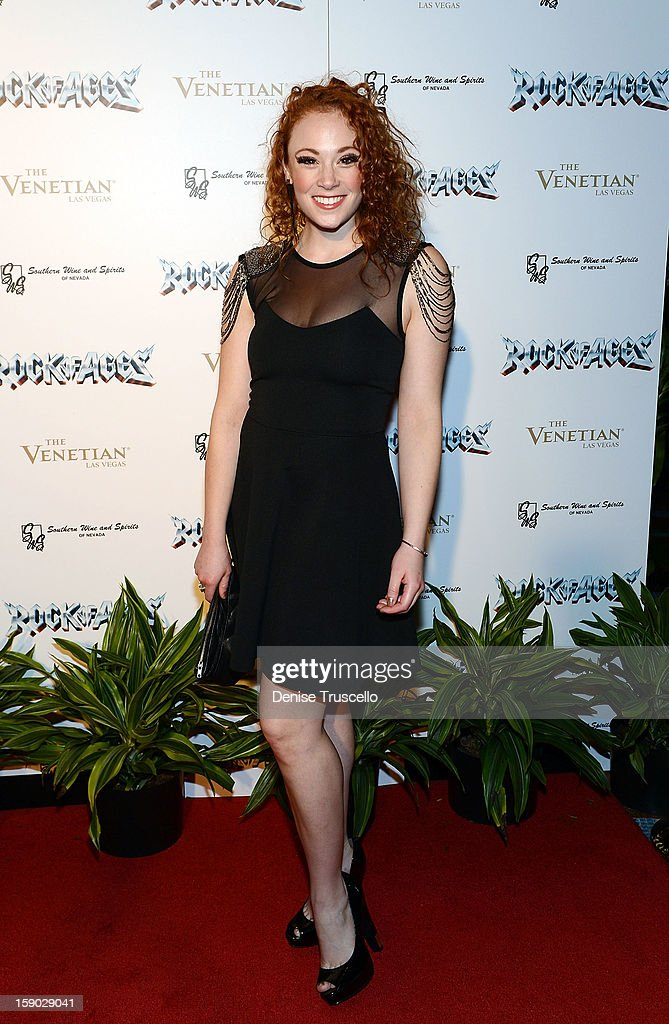 Alyson Bloom arrives at the Rock Of Ages opening after party at The Venetian on January 5, 2013 in Las Vegas, Nevada.