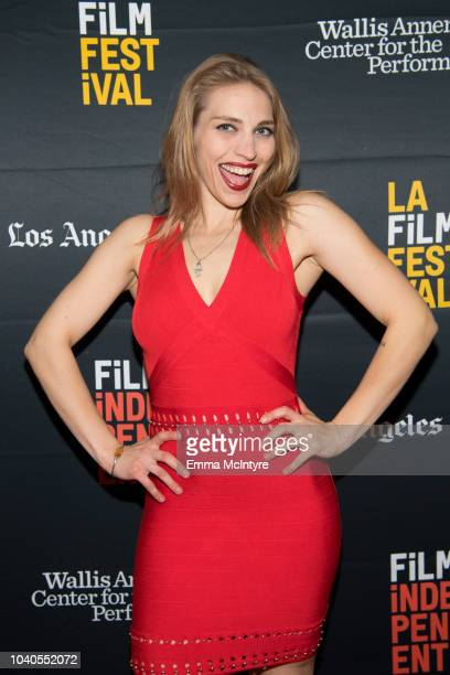 Alyson Bruno attends the 2018 LA Film Festival 'Welcome to the Clambake' at Wallis Annenberg Center for the Performing Arts on September 25 2018 in...