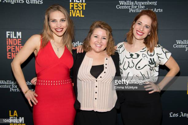 Alyson Bruno Lindsay Stidham and Angela Gulner attend the 2018 LA Film Festival 'Welcome to the Clambake' at Wallis Annenberg Center for the...