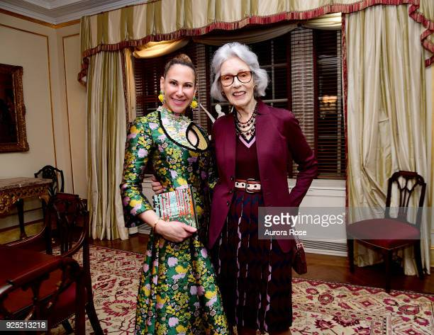 Alyson Cafiero and Barbara Tober Pose at Jean Shafiroff's Annual Cocktail Partyat Private Residence on February 27 2018 in New York City