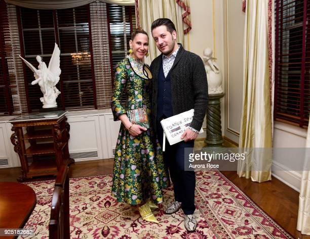 Alyson Cafiero and Dustin Lujan attend Jean Shafiroff's anual Cocktail party at a Private Residence on February 27 2018 in New York City at Private...