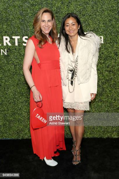 Alyson Cafiero and Terry Zucker attend National YoungArts Foundation New York Gala at The Metropolitan Museum of Art on April 18 2018 in New York City