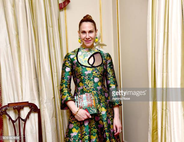 Alyson Cafiero attends Jean Shafiroff's anual Cocktail party at a Private Residence on February 27 2018 in New York City at Private Residence on...