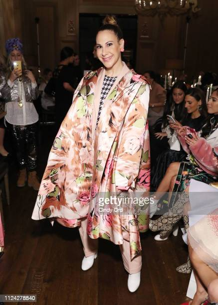 Alyson Cafiero attends the Margit David fashion show during New York Fashion Week on February 12 2019 in New York City