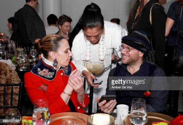 Alyson Cafiero Donna D'Cruz and Gustavo Artigas attend an intimate dinner for FACUNDO Rum Collection and Artist Damian Aquiles to launch a collection...