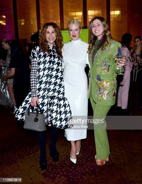 Alyson Cafiero Polina Proshkina and Danielle Hankin Attend the Art Production Fund Presents Printz And The Revolution Party at the Seagram Building...