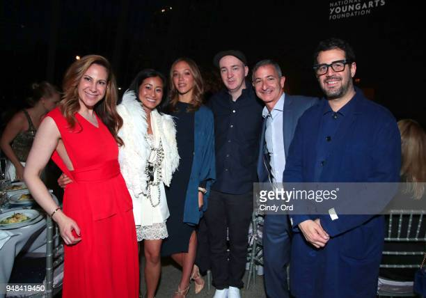 Alyson Cafiero Terry Zucker Zoe Buckman Brian 'KAWS' Donnelly Jason Zucker and Jose Parla attend National YoungArts Foundation New York Gala...