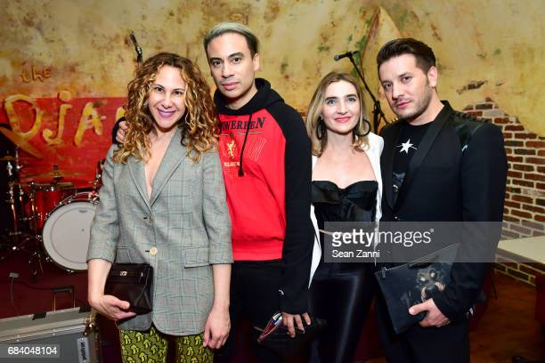 Alyson Cafiero Victor de Souza Ellen McGrath and Dustin Lujan attend AS IF Magazine and Tommy Hilfiger celebrates issue 11 and honors Mick Rock at...