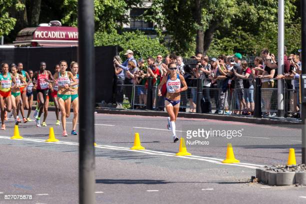 Alyson Dixon at IAAF World Championships Women Marathon in London UK on August 6 2017 42 kilometre run took place in most picturesque streets of...