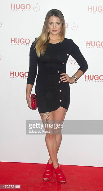 Alyson Eckmann attends Hugo Boss Woman fragrance presentation photocall at Matadero Madrid on April 21 2015 in Madrid Spain