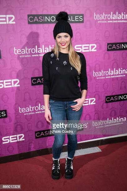 Alyson Eckmann attends the 'Casi Normales' premiere at 'La Latina' Theatre on December 18 2017 in Madrid Spain