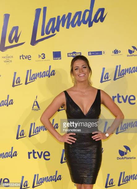 Alyson Eckmann attends the 'La Llamada' premiere yellow carpet at the Capitol cinema on September 26 2017 in Madrid Spain
