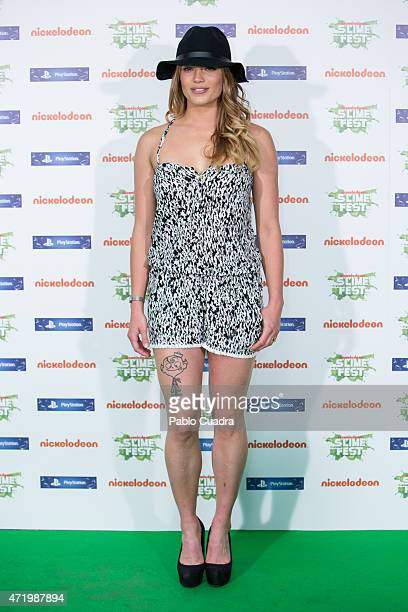 Alyson Eckmann attends the Slime Festival at the Barclaycard Center on May 2 2015 in Madrid Spain