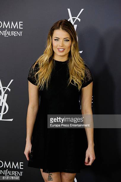 Alyson Eckmann attends the Yves Saint Laurent Beauty cocktail party at Espacio Molteni Co on February 29 2016 in Madrid Spain