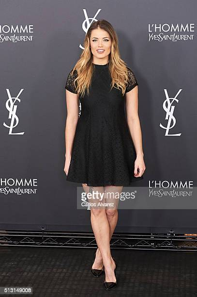 Alyson Eckmann attends Yves St Laurent Beauty cocktail party on February 29 2016 in Madrid Spain