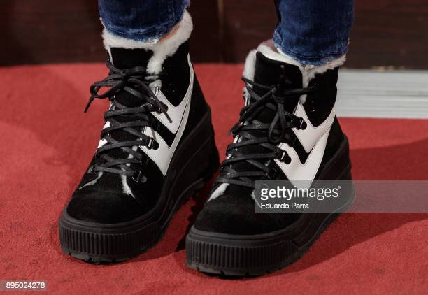 Alyson Eckmann sneakers detail attends the 'Casi normales' premiere at La Latina theatre on December 18 2017 in Madrid Spain