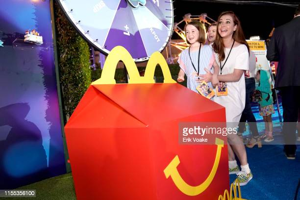 Alyson Hannigan and family are seen as McDonald's treats guests to Happy Meals at the Toy Story 4 Premiere After Party at El Capitan Theatre on June...
