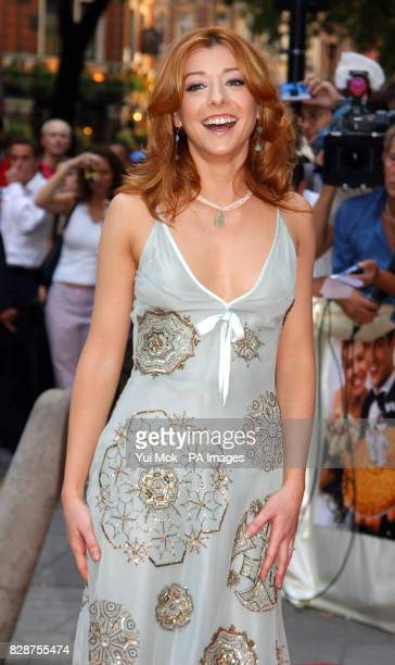 Alyson Hannigan arriving at the Odeon Covent Garden in London's Shaftesbury Avenue for the UK premiere of American Wedding the third American Pie...