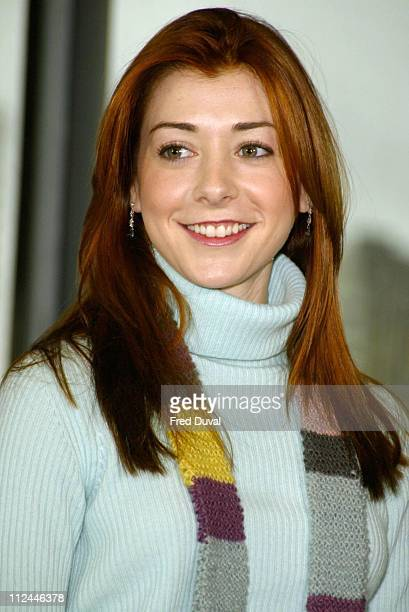 Alyson Hannigan at City Hall in London where the actress helped to launch the Get Into London Theatre promotion