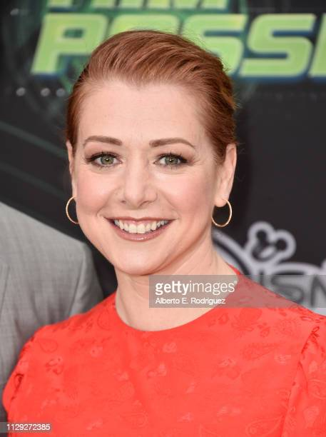 Alyson Hannigan attends the premiere of Disney Channel's 'Kim Possible' at The Television Academy on February 12 2019 in Los Angeles California