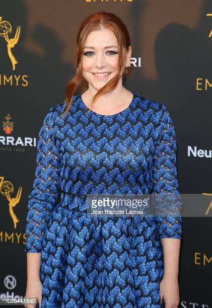 Alyson Hannigan attends the Television Academy's Performers Peer Group Celebration at NeueHouse Hollywood on August 20 2018 in Los Angeles California