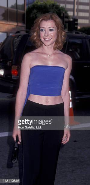 Alyson Hannigan attends the world premiere of 'American Pie 2' on August 6 2001 at Mann National Theater in Westwood California