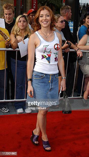 Alyson Hannigan during 'American Idol' Season 1 Finale Results Show Arrivals at Kodak Theater in Hollywood California United States