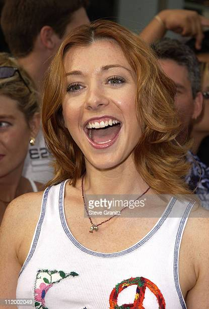 Alyson Hannigan during American Idol Season 1 Finale Results Show Arrivals at Kodak Theater in Hollywood California United States