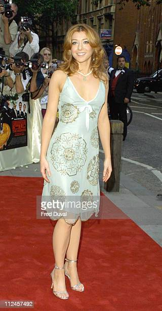 Alyson Hannigan during 'American Wedding' London Premiere Arrivals at The Odeon Covent Garden in London United Kingdom