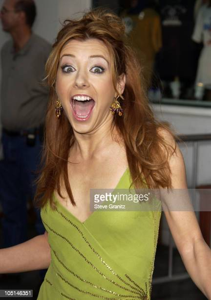 Alyson Hannigan during 'American Wedding' Premiere in Universal City California United States