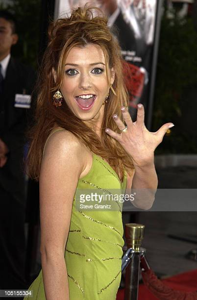 Alyson Hannigan during American Wedding Premiere in Universal City California United States
