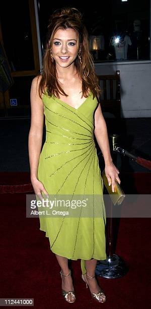 Alyson Hannigan during American Wedding Premiere in Universal City California United States