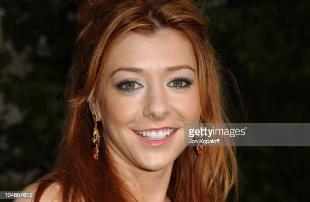 Alyson Hannigan during 'American Wedding' World Premiere at Universal Studios Cinema in Universal City California United States