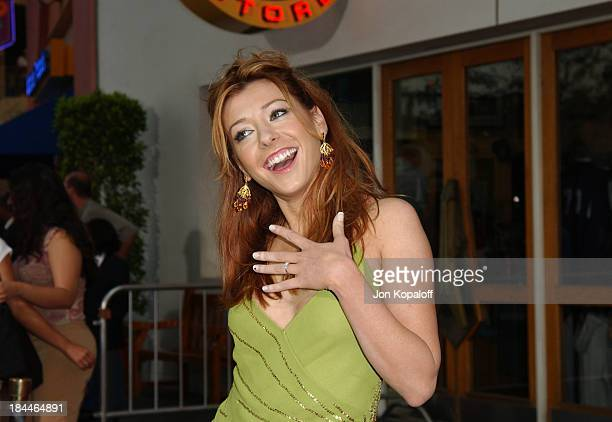 Alyson Hannigan during American Wedding World Premiere at Universal Studios Cinema in Universal City California United States